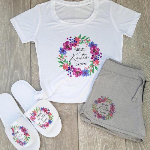personalised bridal pajamas