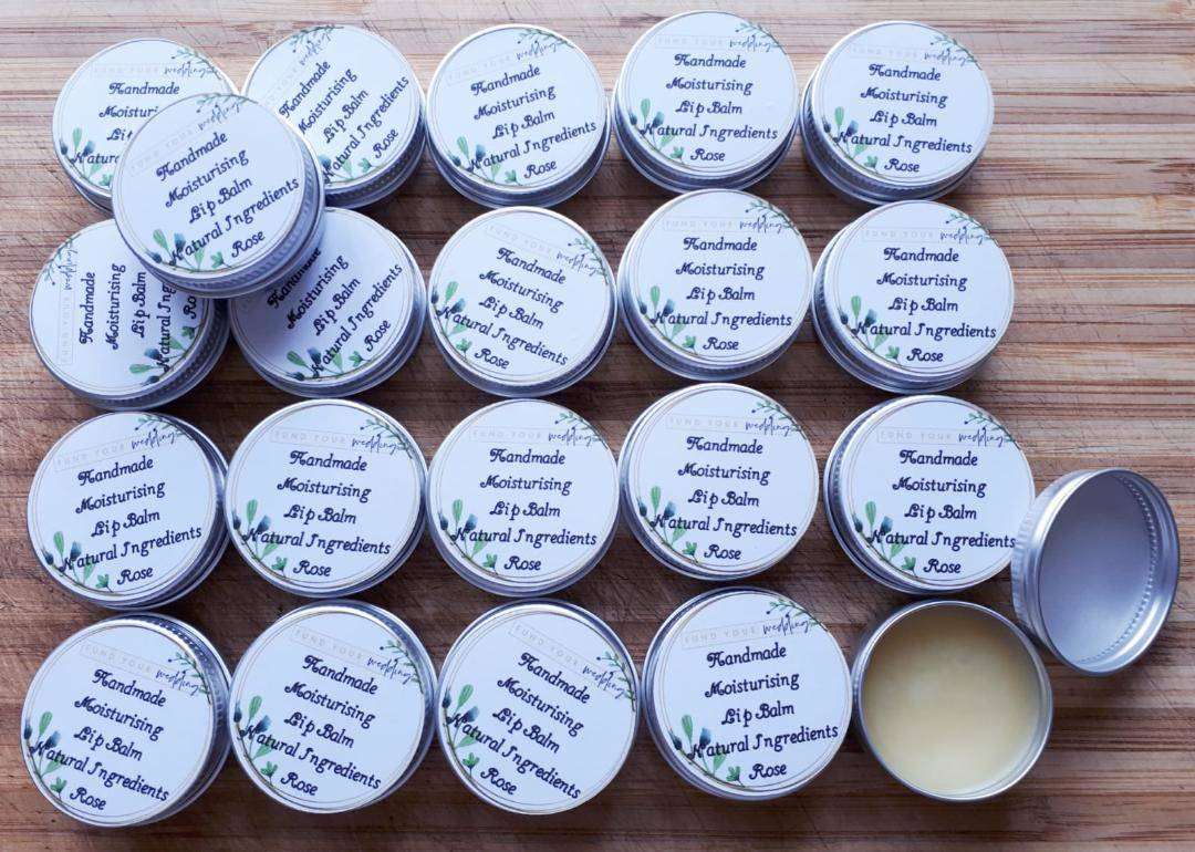 personalised bridesmaid lip balm