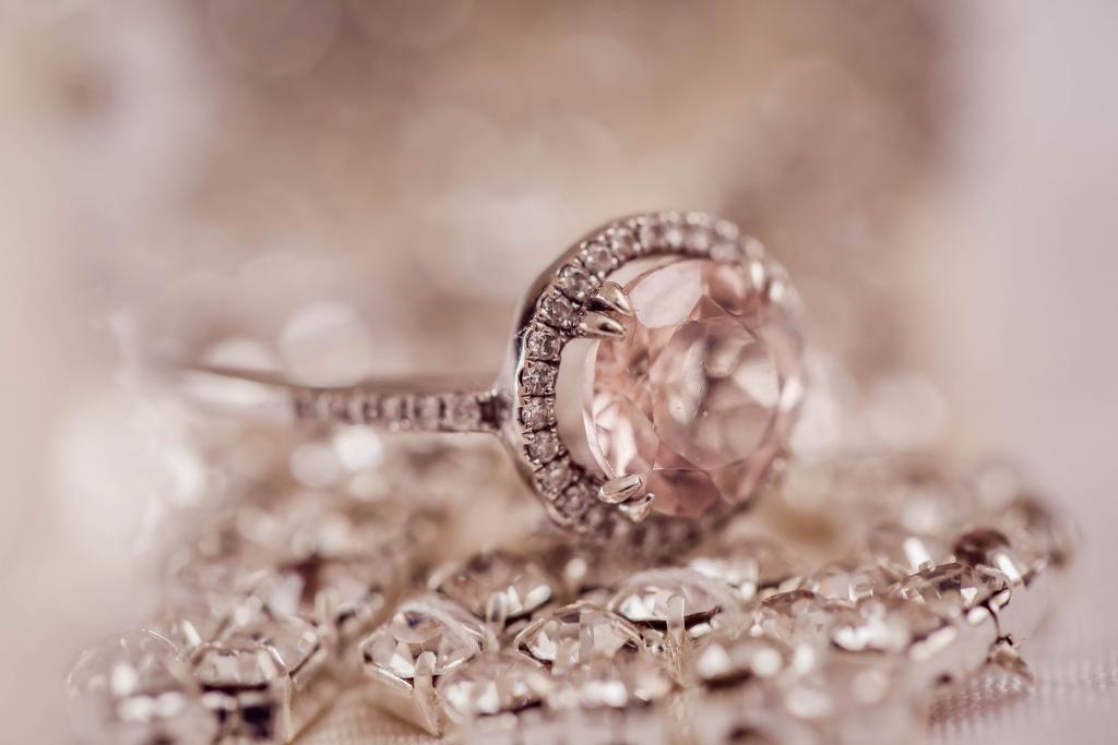 rose gold engagement wedding ring