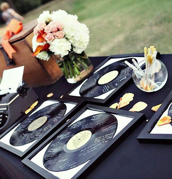 vinyl guestbook