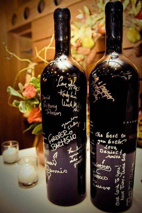 wine bottle guestbooks