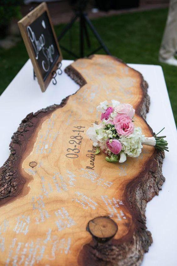 Driftwood Wedding Guestbook