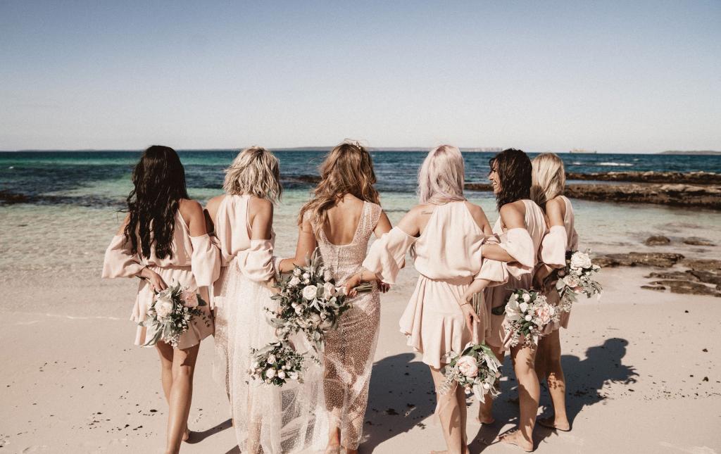 pink wedding dress inspiration