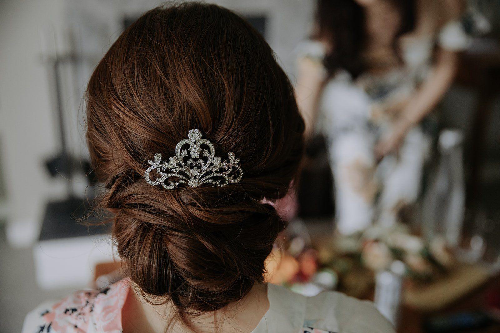 destination wedding hair up do