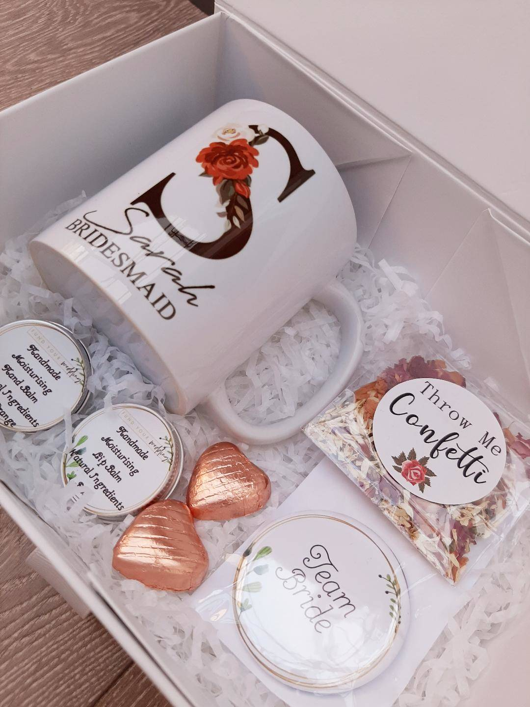 pre filled bridesmaid boxes