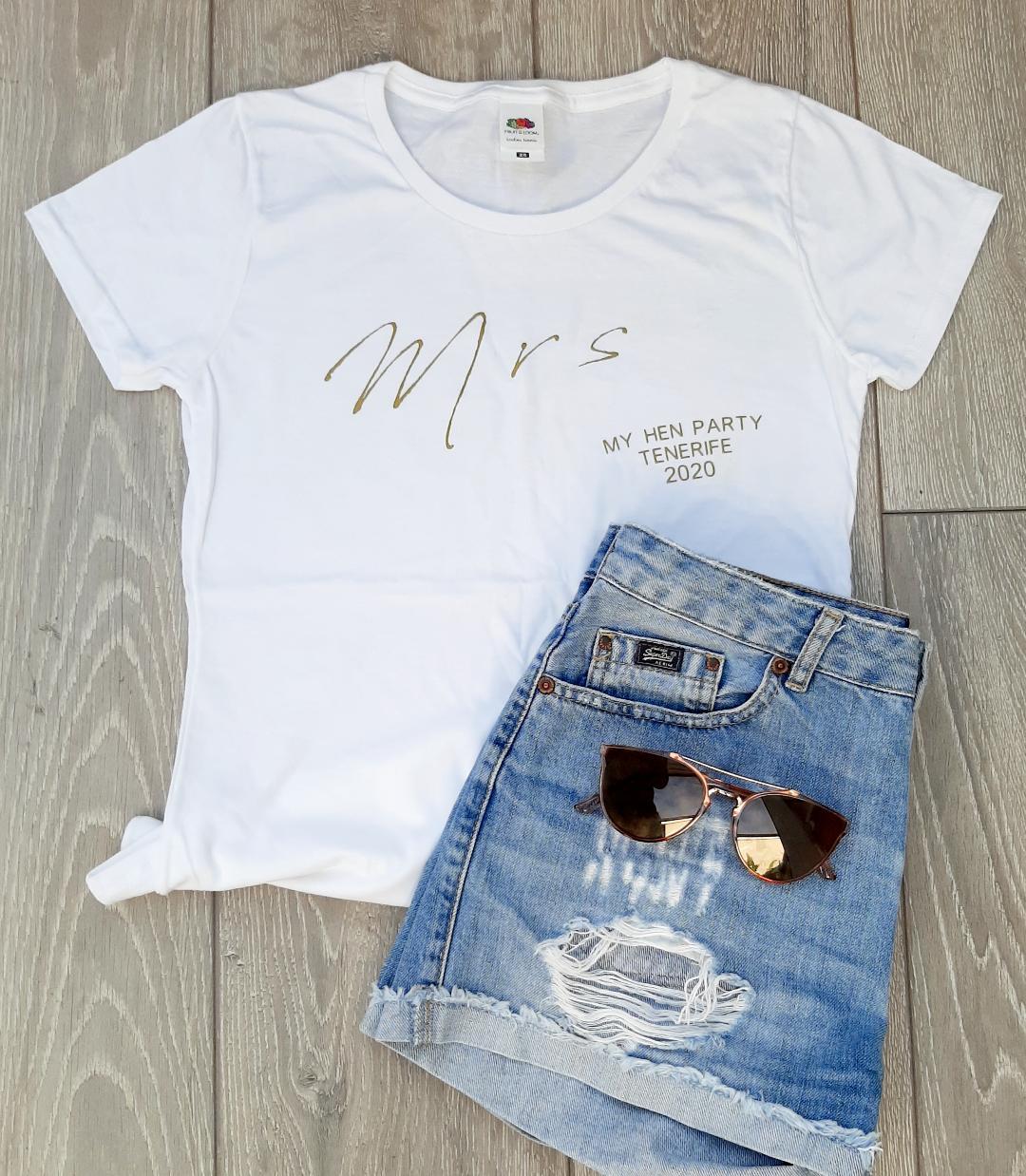 personalised bride t shirt