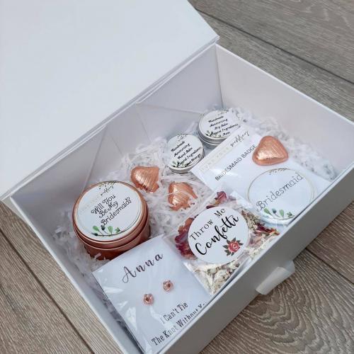 personalised bridesmaid gifts - brand ambassadors sample box