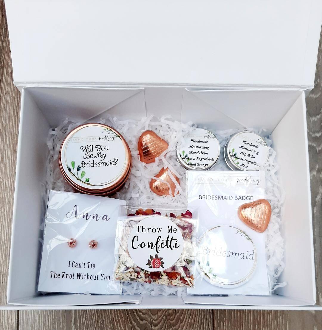 personalised bridesmaid boxes