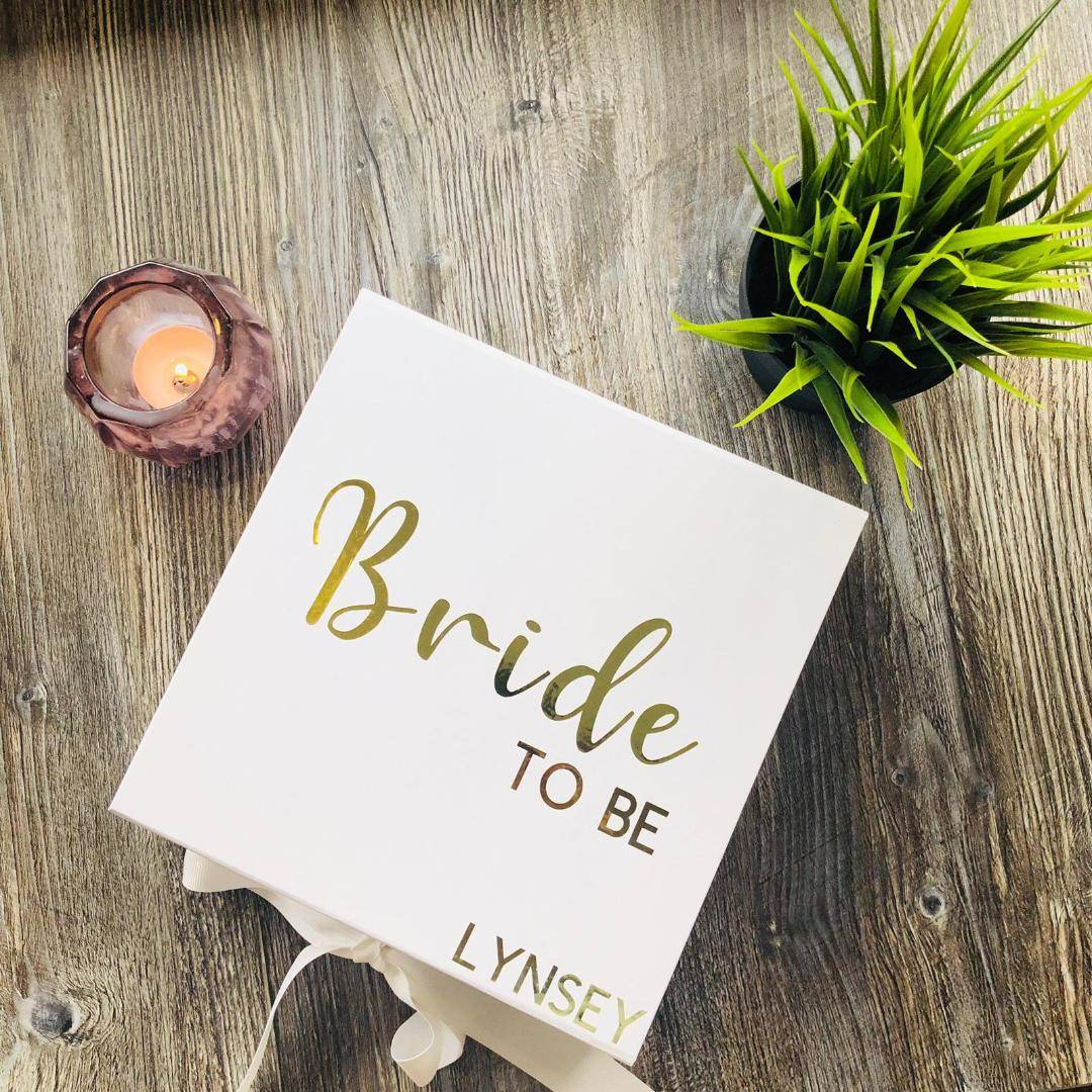personalised bride to be gift box