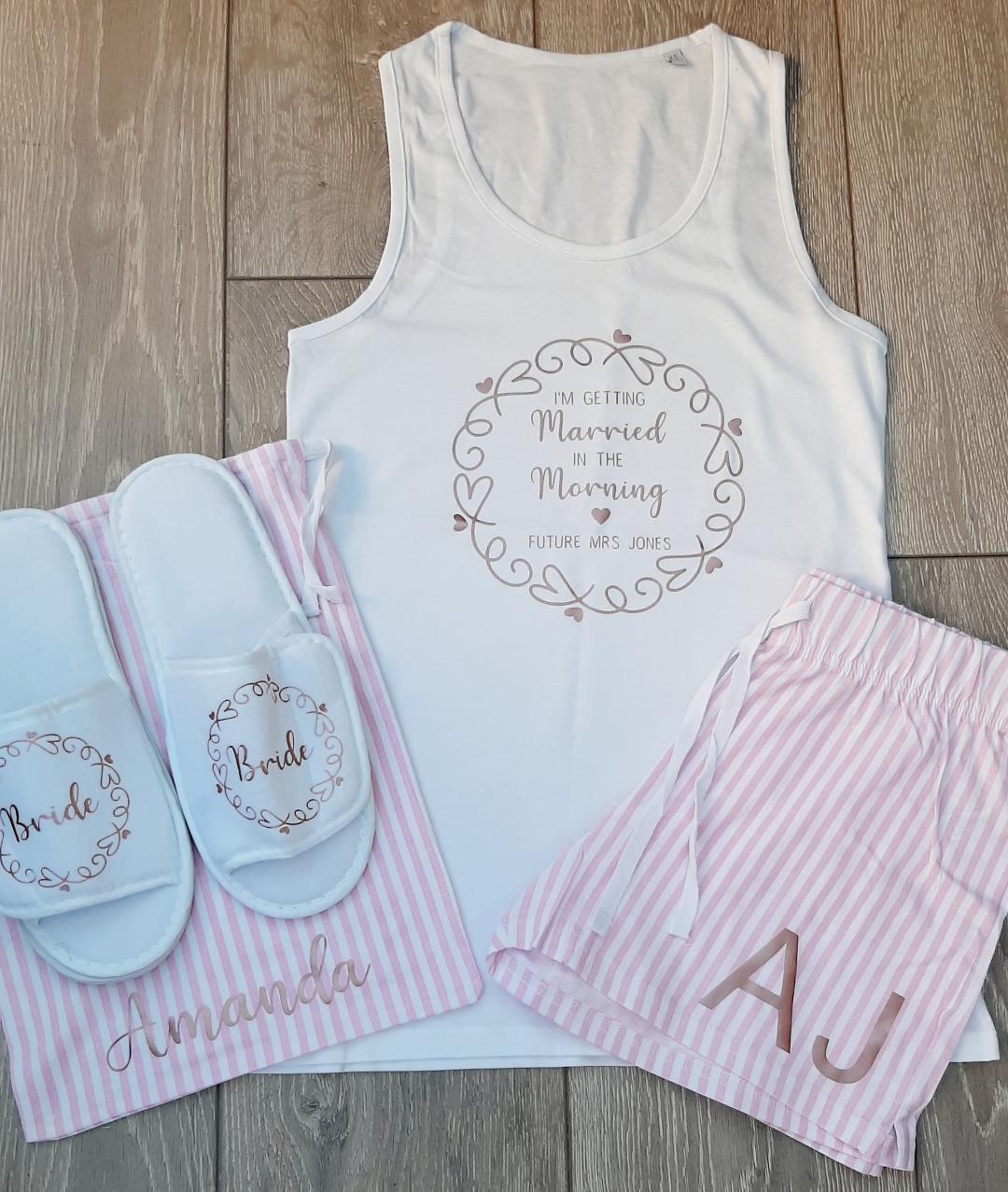personalised wedding pajamas