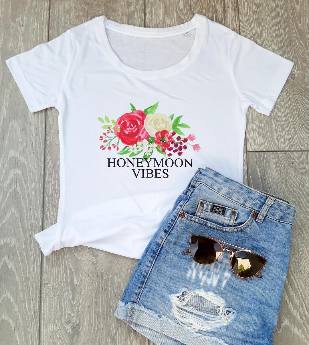 honeymoon vibes t shirt
