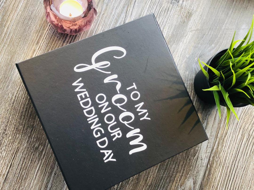 personalised grooms box