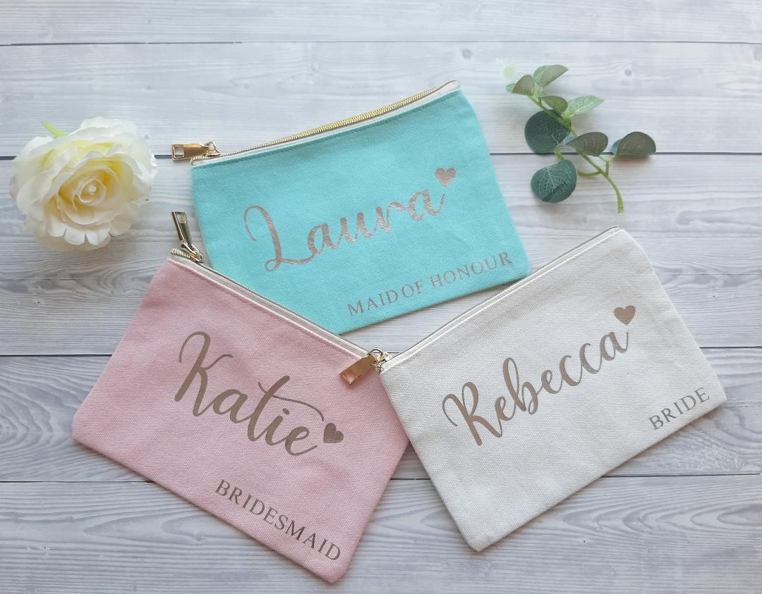 bridesmaid cosmetic bag