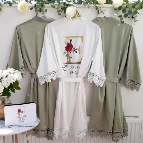 green bridesmaid robes