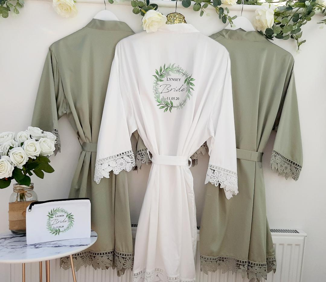 lace wedding robes