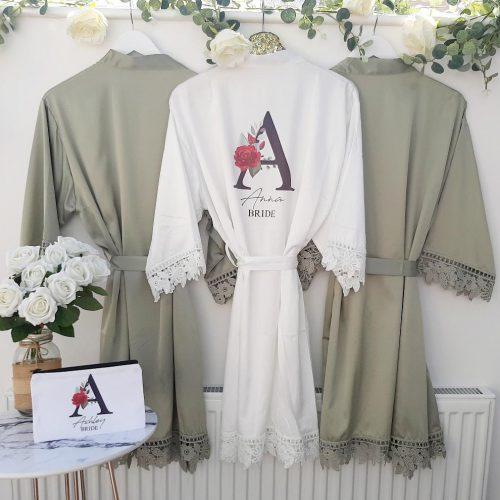 green wedding robes