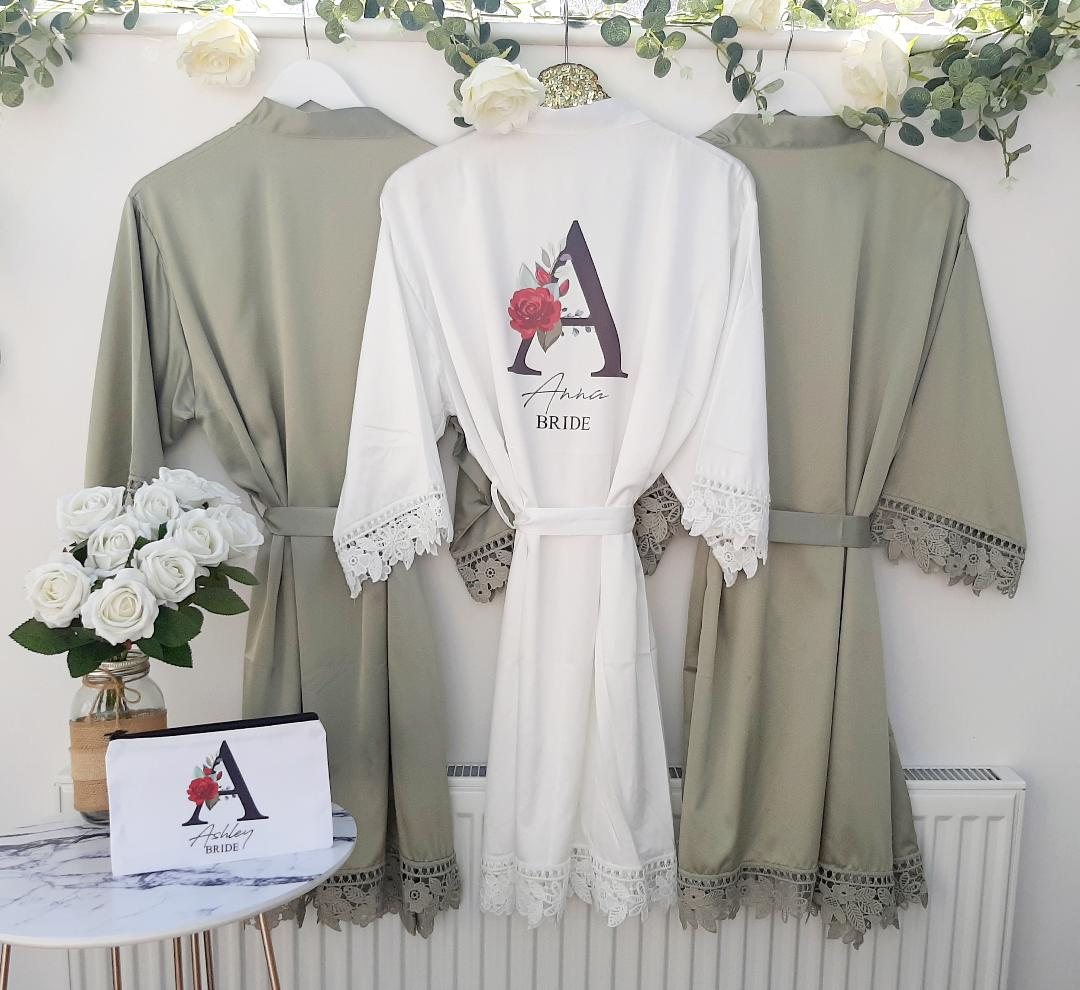 green wedding robes