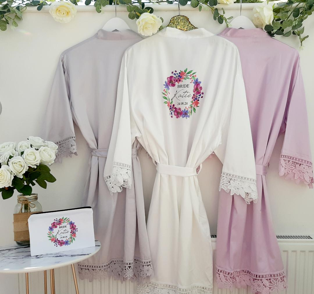 Lilac Bridesmaid Wedding Robes Fund Your Wedding