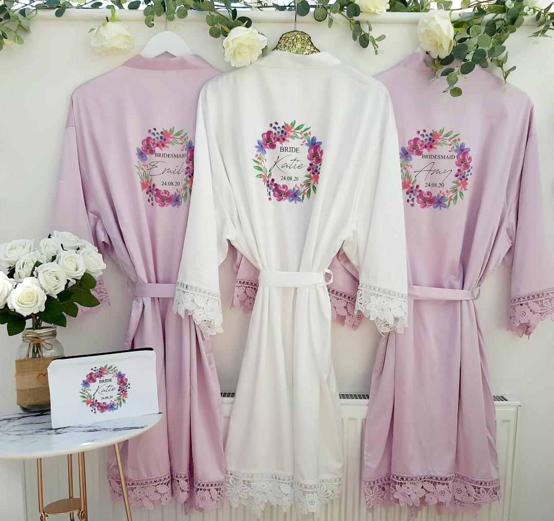 lilac bridesmaid robes