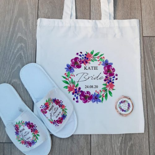 personalised bridal tote bags