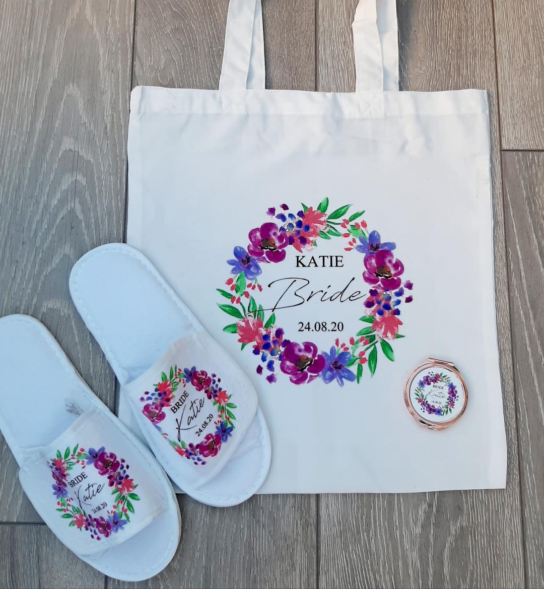 personalised bridal tote bags